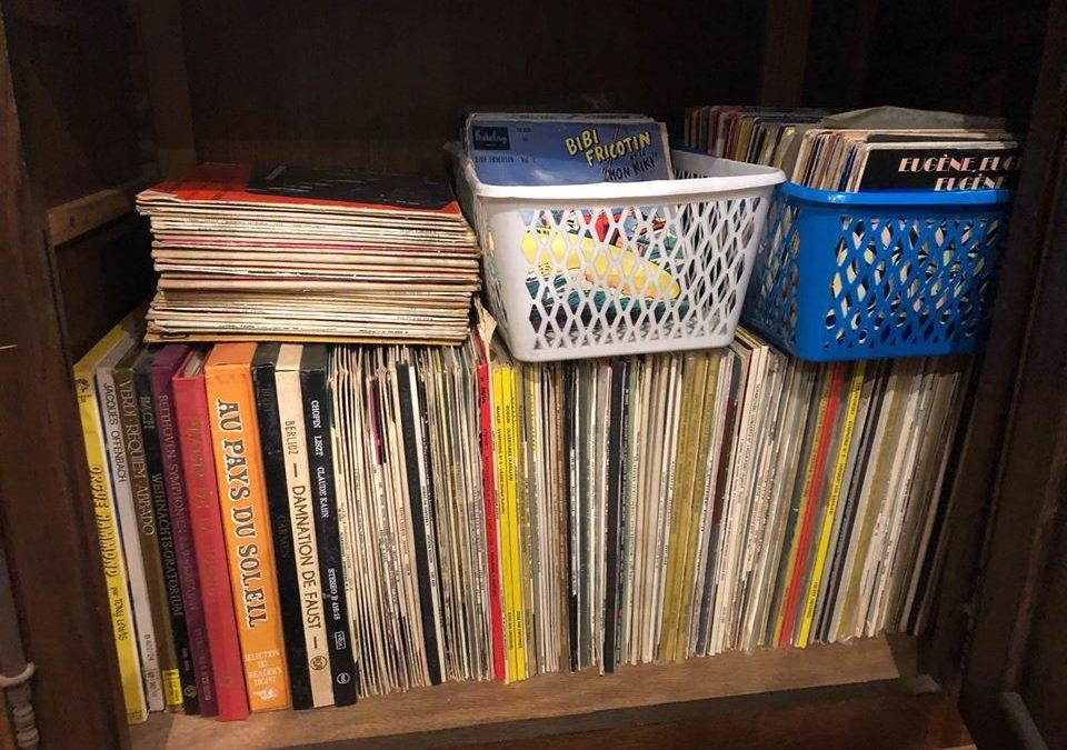 Lot de disques 78/33/45 tours
